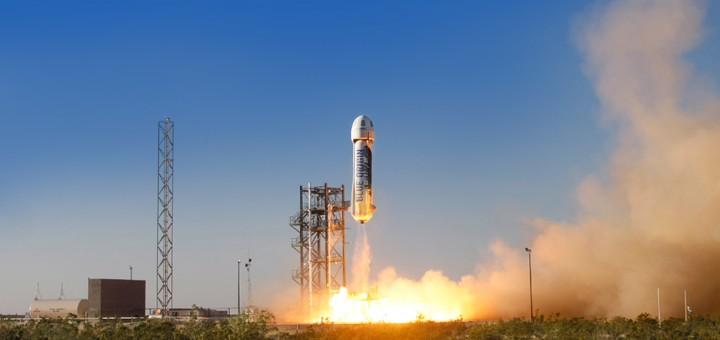 Lancio di New Shepard. (C) Blue Origin