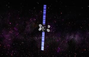 Il satellite Intelsat-29e con le antenne e i pannelli solari dispiegati in una rappresentazione artistica. Credits: Intelsat