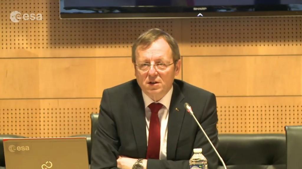 "Jan Wörner durante il ""question time"" - (C) ESA"