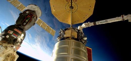 Cygnus visto dalla ISS. Credits: NASA