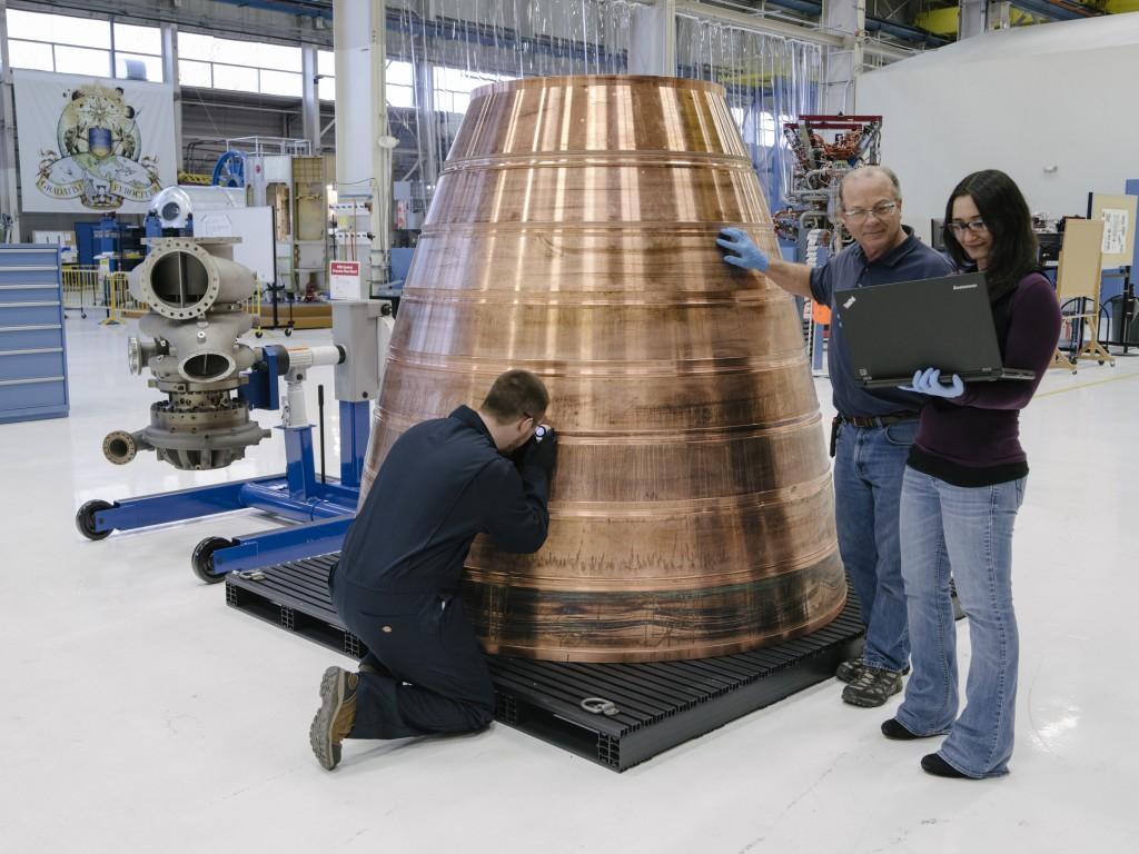 L'ugello del nuovo motore BE-4. Credit: Blue Origin