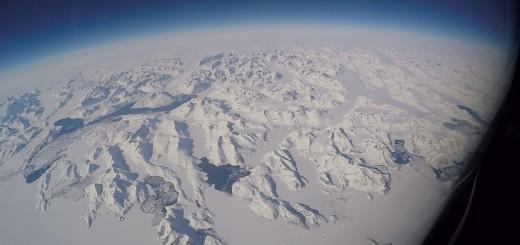 Vista dal Gulfstream-III della NASA sulla Groenlandia orientale. Credit: NASA