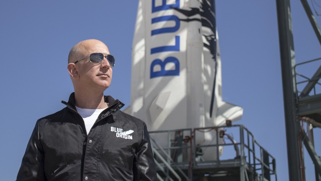 Jeff Bezos. Credit: Blue Origin