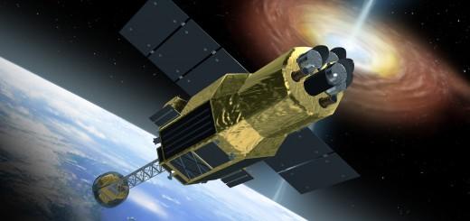 Una rappresentazione artistica del satellite Hitomi. (C)  JAXA.