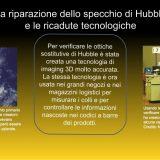 Immagine di Hubble a sinistra, breve sunto dell'articolo, immagine di una cassa per negozi a destra