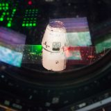 Dragon CRS-9 in partenza dalla ISS - (C) NASA
