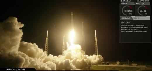 Liftoff di Falcon 9 - JCSAT-16
