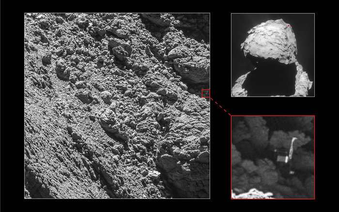 Spazio, la sonda Rosetta ha ritovato Philae sulla cometa 67/P